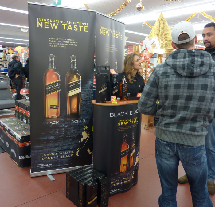 Johnnie Walker Double Black tastings december '12