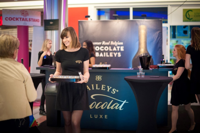 Baileys Chocolat Luxe sampling op Flair Shopping Day