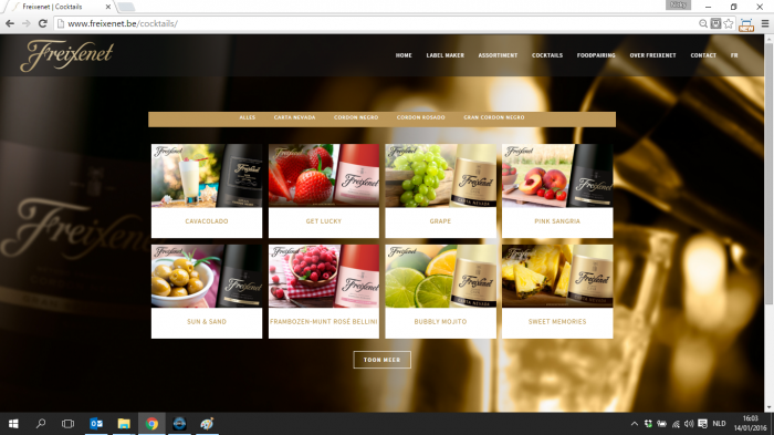 Freixenet website